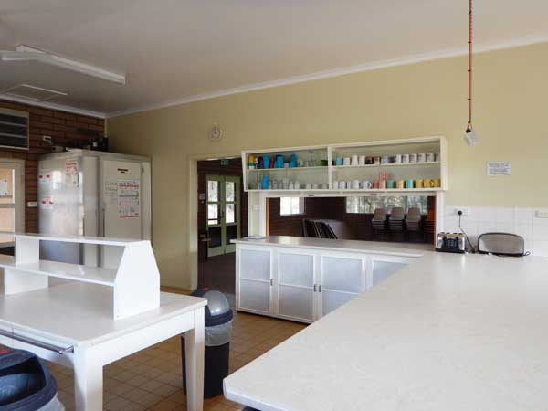 Kitchen benches and freezer